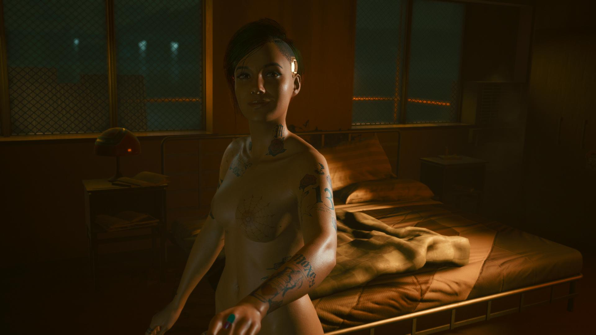 Джуди рада, что Ви осталась с ней ночевать.