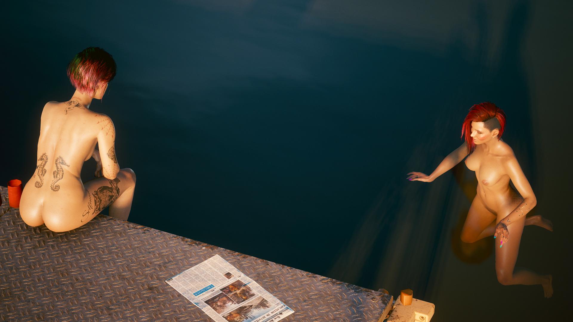 """Ви:-""""Джуди, не хочешь вместе со мной поплавать?""""."""