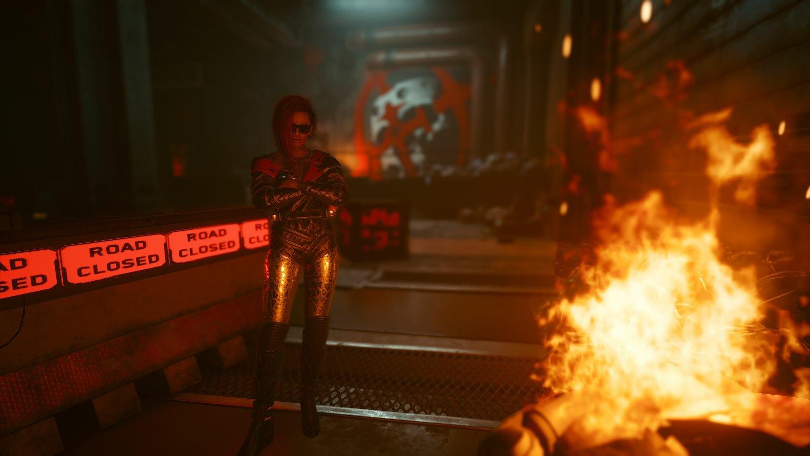 У огня.. Cyberpunk 2077