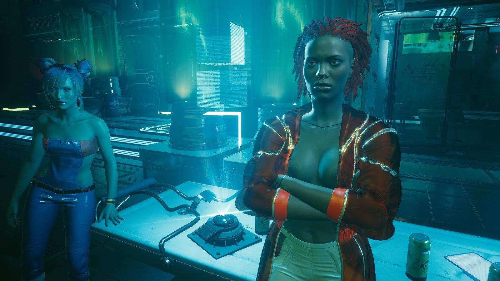 Девахи в Посмертии.. Cyberpunk 2077