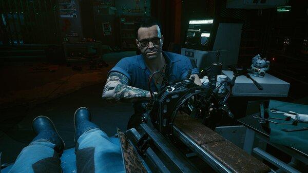 У Виктора на кресле. Cyberpunk 2077