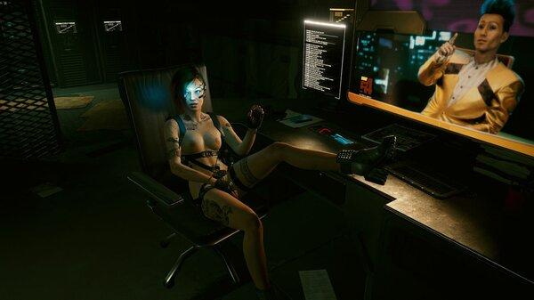 Джуди жарко в серверной.. Cyberpunk 2077
