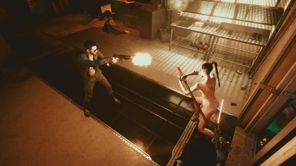 На Джонни напали охранники Арасаки.