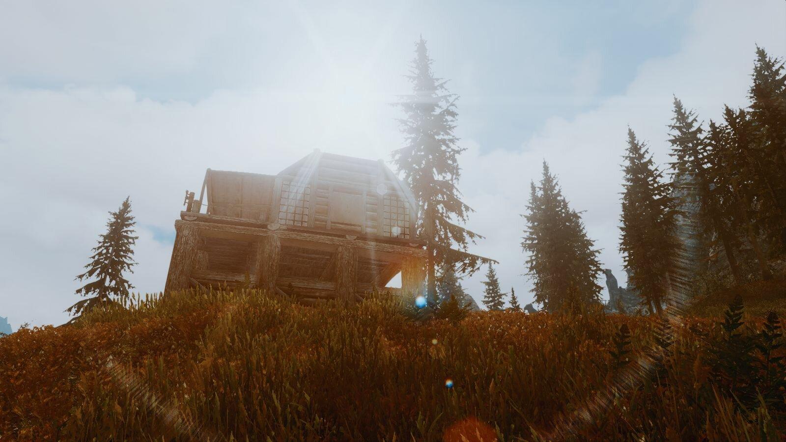 Новый домик в тундре Скайрима..