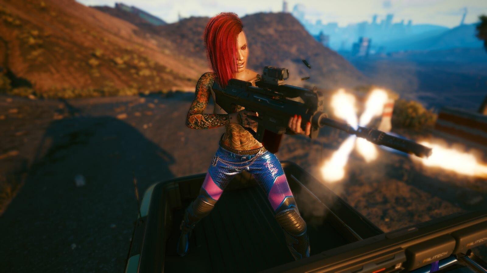 Очаровательна и опасна! Cyberpunk 2077