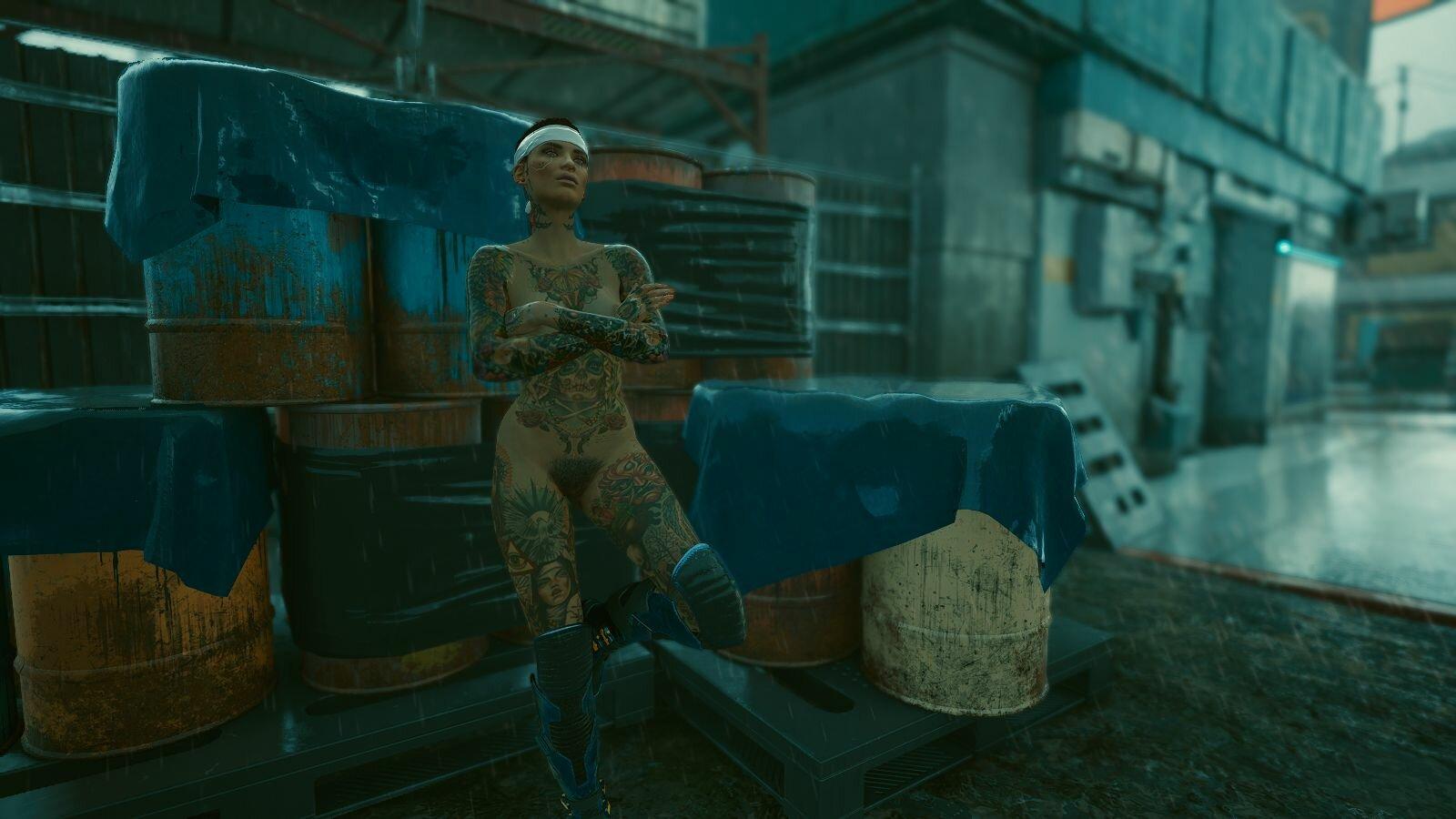 И пошёл дождь.. Cyberpunk 2077
