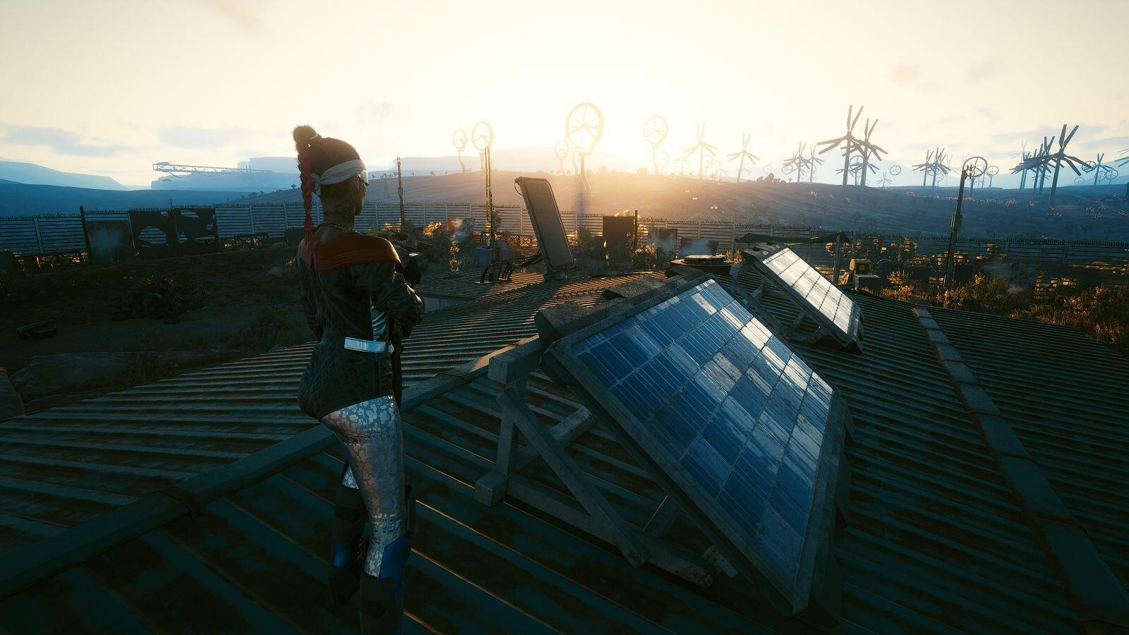 Ви застала рассвет на крыше.. Cyberpunk 2077
