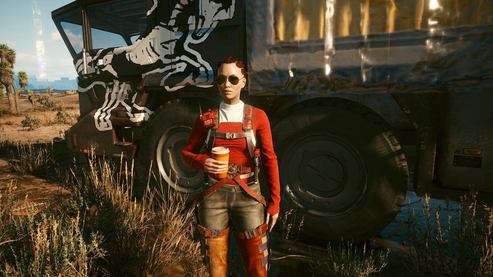Девица из кочевников.. Cyberpunk 2077