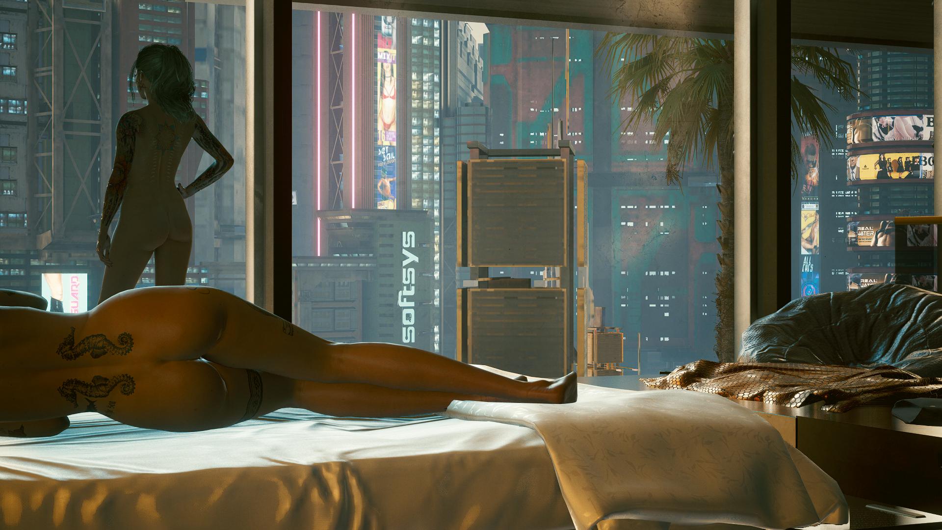 Пока Джуди спит Ви смотрит на просыпающийся город.