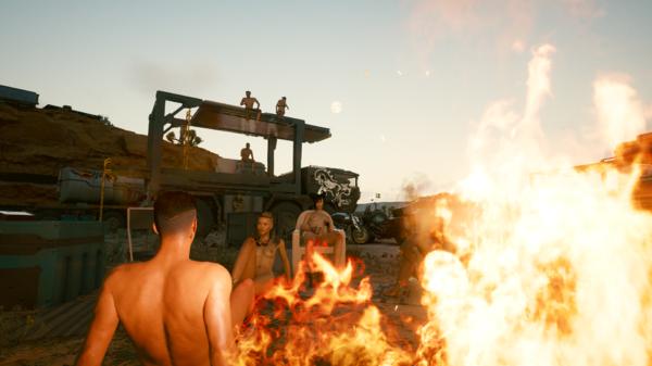 У костра в лагере кочевников.